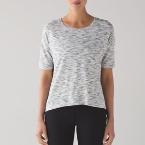 Lululemon Run it Out Tee Tiger Space Black White
